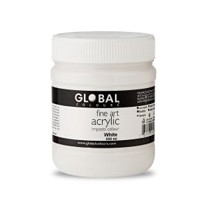 White - Global Colours Fine Art Acrylic Impasto 500ml