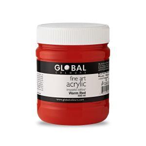 Warm Red - Global Colours PROFESSIONAL Fine Art Acrylic Impasto 500ml