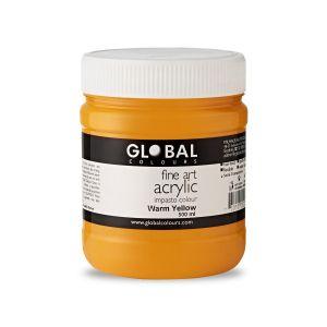 Warm Yellow - Global Colours PROFESSIONAL Fine Art Acrylic Impasto 500ml
