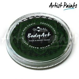 DEEP GREEN  - 32g Global Colours Professional Face Paint Makeup Cake Body Art