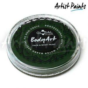 DEEP GREEN  - 32g Global Colours Professional Face Paint Makeup Cake Body Art