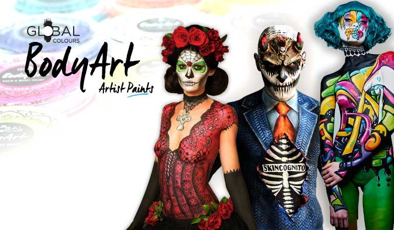Global Colours BodyArt Makeups for Professionals