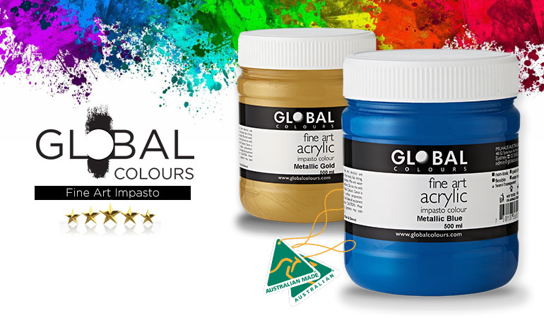 Global Colours Fine Art Acrylic Paints for Artists