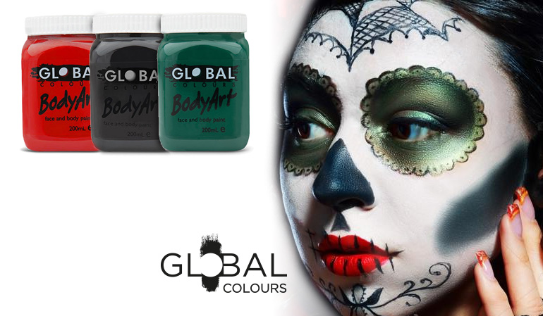 Global Colours Body Art Banner