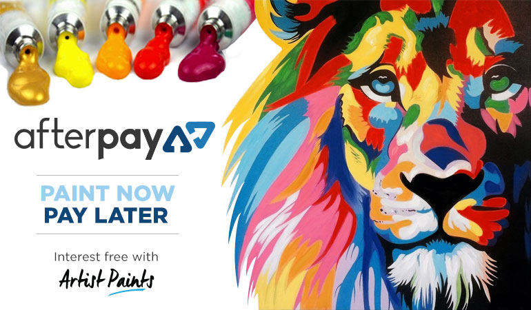 Afterpay is available at Artist Paints