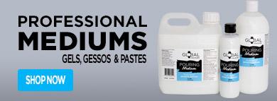 Mediums Gels Gessos & Pastes - Global Colours