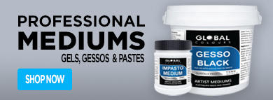 Mediums Gels Gessos & Pastes - Global Colours