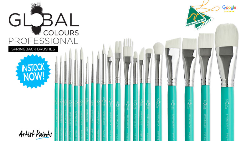Global Colours Professional SpringBack Brushes - Now Available